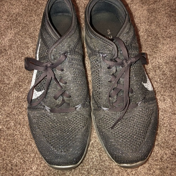 pretty nice 161c2 cf1da Grey Glitter Nike Free Run 5.0s